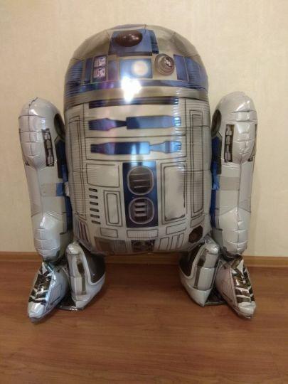 R2D2 шар ходячий фольгированный с гелием