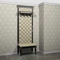 """Мебель в прихожую с банкеткой """"Руссильон PROVENCE-80 черная эмаль с патиной"""""""