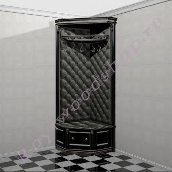 """Угловая стойка с вешалами """"Руссильон PROVENCE черная эмаль с патиной . Модуль 3"""