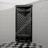 """Угловая прихожая в маленький коридор """"Руссильон PROVENCE черная эмаль"""""""