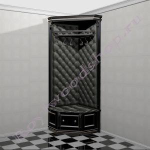 """Угловая прихожая """"Руссильон PROVENCE черная эмаль с патиной"""". Модуль 10"""