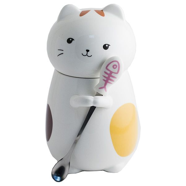 Кружка Кот с ложкой N 4