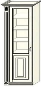 Колонка-витрина Ферсия бельевая с одной пилястрой слева, полки ЛДСП (модуль 14)