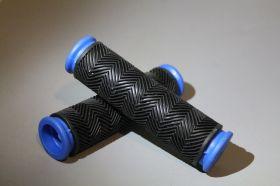 Грипсы резиновые с синей каймой