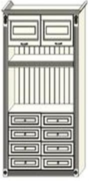 Центральная секция с комодом Ферсия, ниша МДФ (модуль 20)