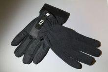 Перчатки велосипедные защитные с пальцами черные