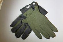 Перчатки велосипедные защитные с пальцами зеленые