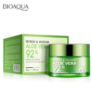 Освежающий и увлажняющий крем-гель для лица и шеи Алоэ Вера 92%.(2836)