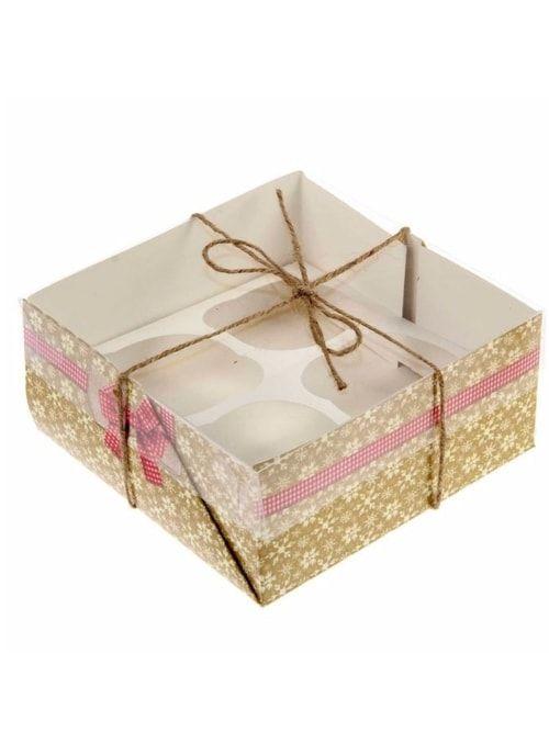 """Коробочка для кексов """"Уютный Новый год"""""""