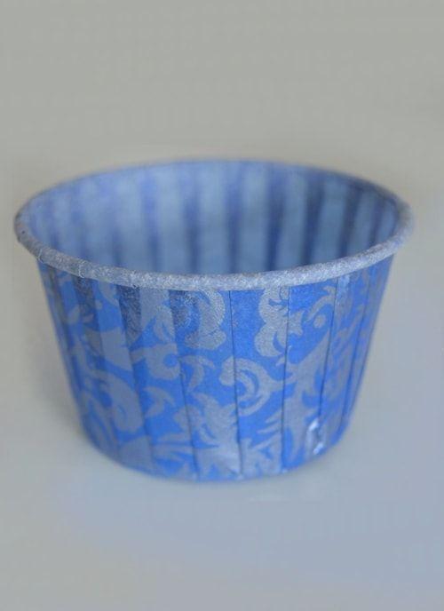 Форма для капкейка Синяя с узором