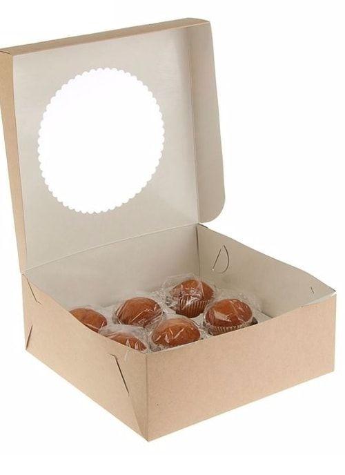 Коробка для капкейков с окном на 9шт