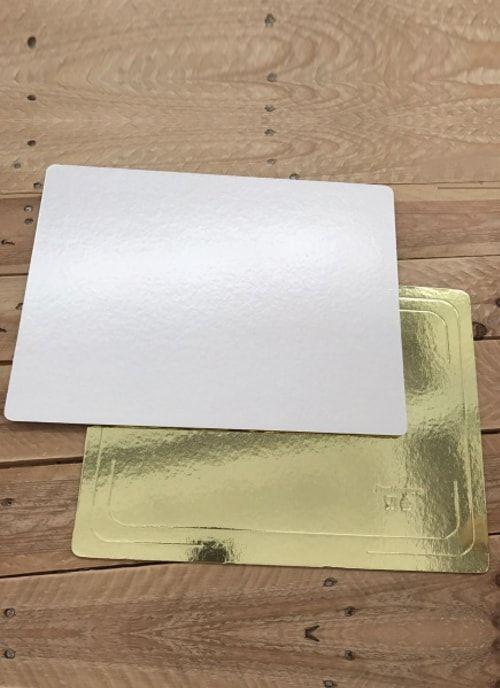 Подложка Золото/Белая квадрат