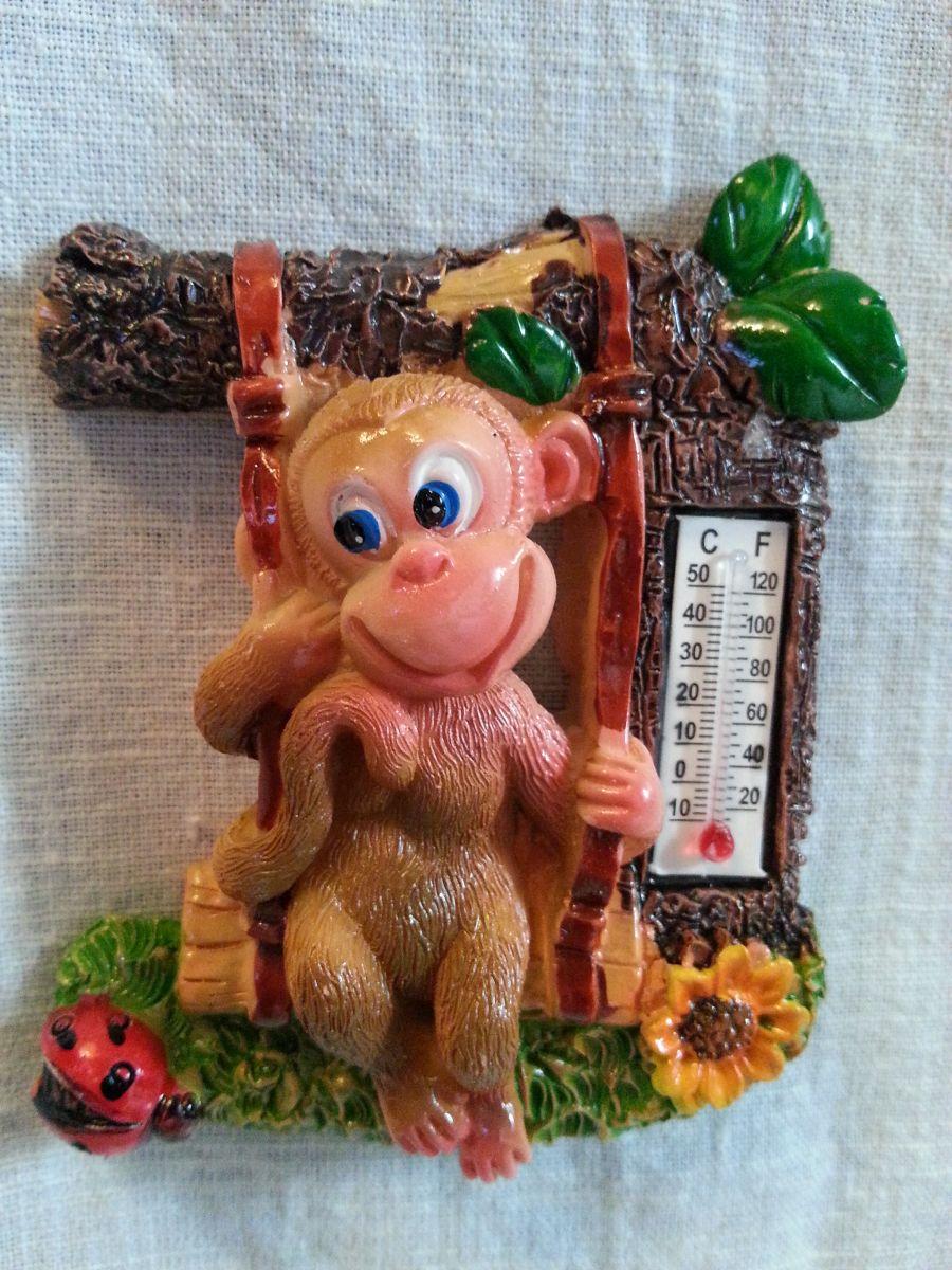 Магнит на холодильник обезьянка 004-2