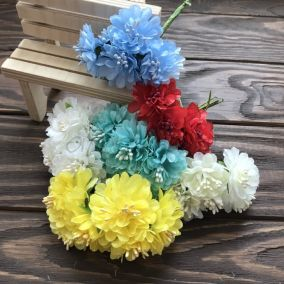 Букет Цветы пушистики 3см