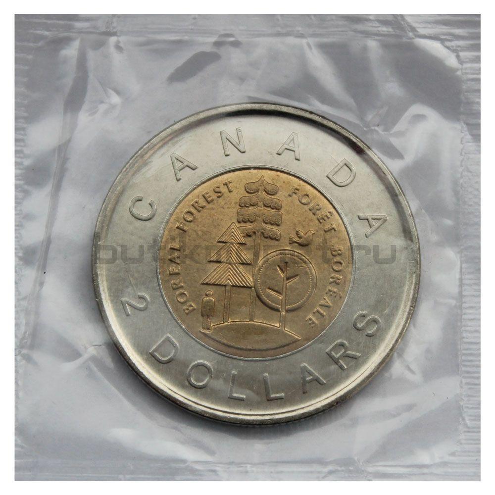 2 доллара 2011 Канада Тайга - половина суши Канады