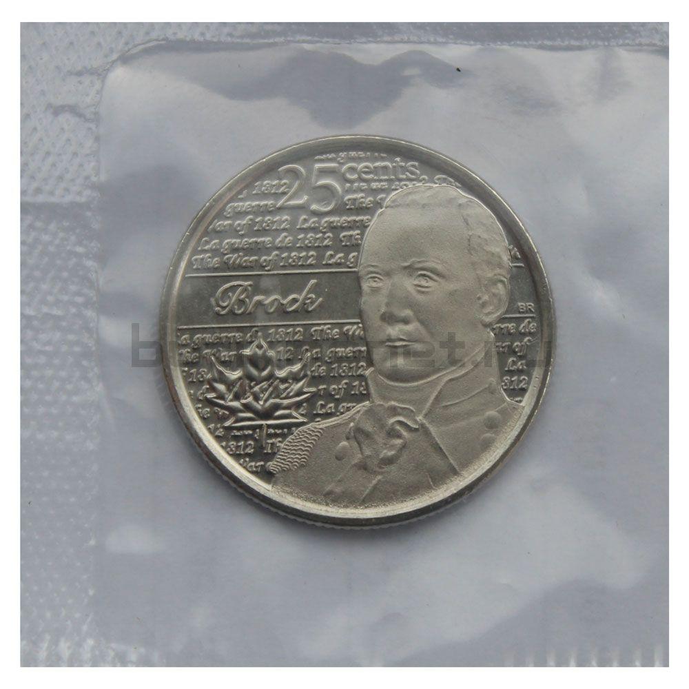 25 центов 2012 Канада Генерал-майор Исаак Брок (Война 1812 года)