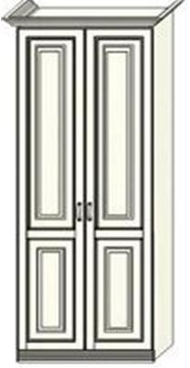Шкаф двухдверный  Ферсия, для платья и белья (модуль 23)