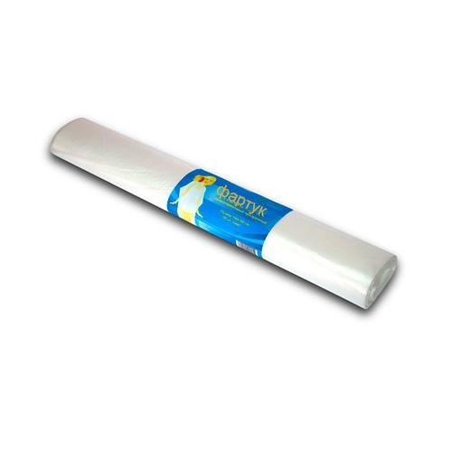 Фартук п/э 80*120см прозрачный White line 50шт/рулон