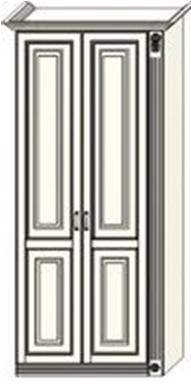 Шкаф двухдверный  Ферсия с одной пилястрой справа, для платья (модуль 25)