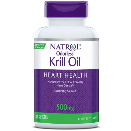 Natrol Omega 3 Krill Oil 500 mg (Крилевый жир)