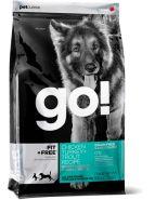 """GO! Fit + Free Беззерновой корм для собак всех возрастов """"Четыре вида мяса"""" (индейка, курица, лосось, утка) (2,72 кг)"""