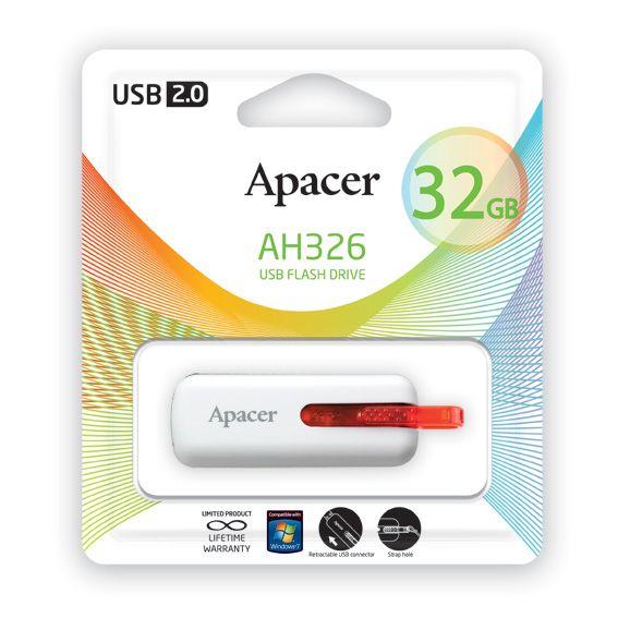 USB накопитель Apacer 32GB AH326 white