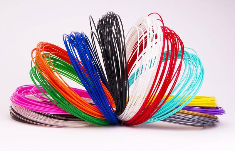 Набор пластика для 3d ручки 10 цветов