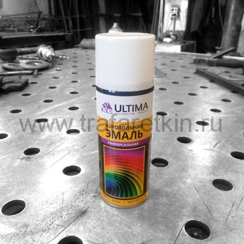 Краска-спрей ULTIMA (белая RAL 9003)
