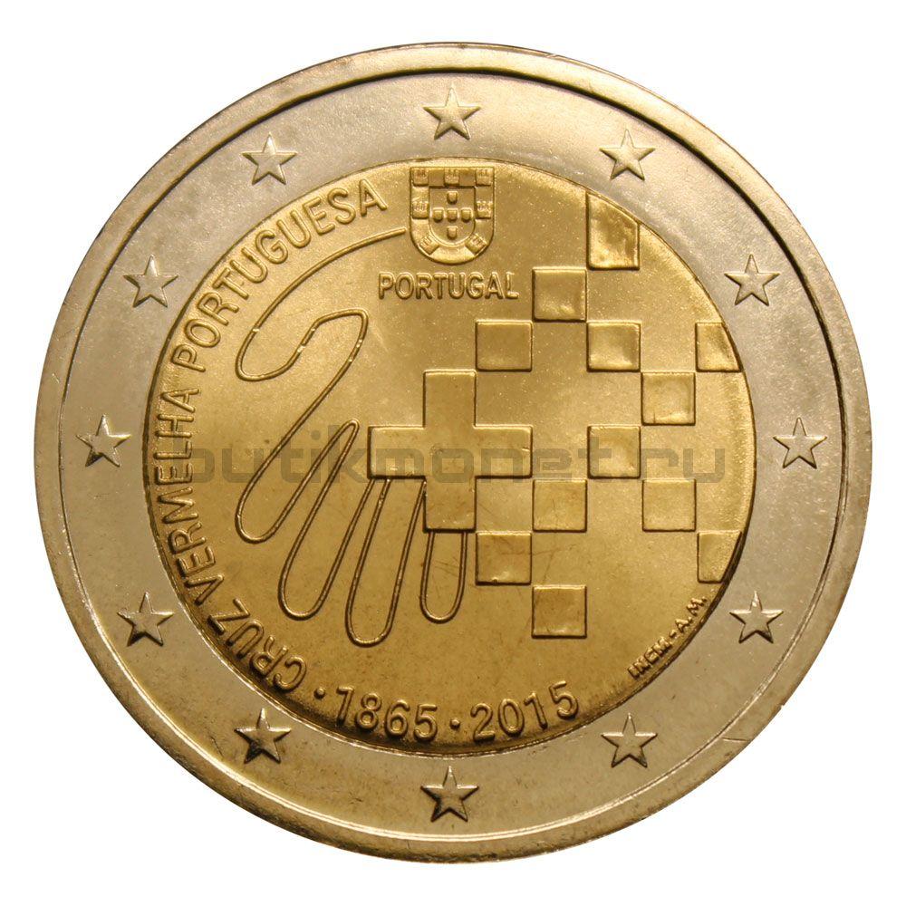 2 евро 2015 Португалия 150 лет Португальскому Красному кресту