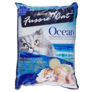 """Fussie Cat """"Морской"""" Комкующийся наполнитель (10 л)"""