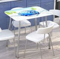 Кухонный стол с фотопечатью Лёд