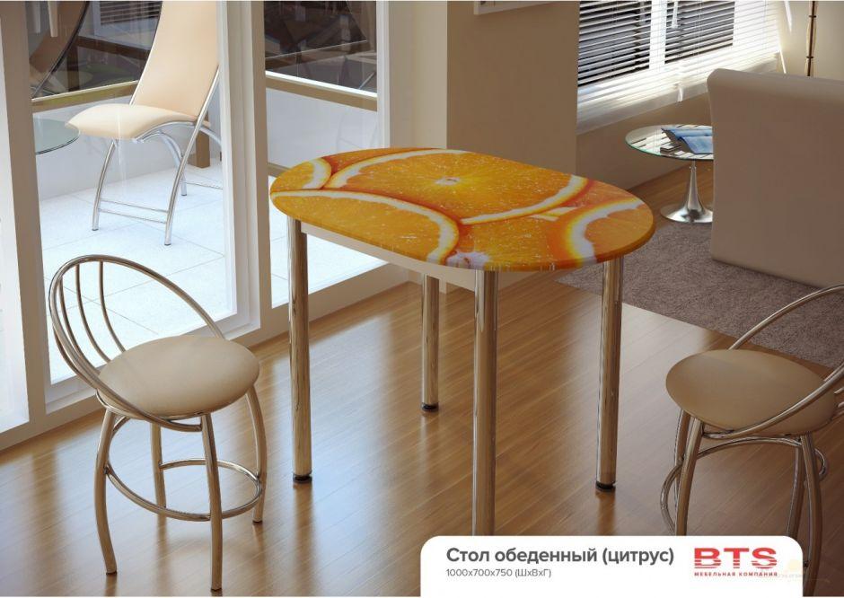 Кухонный стол с принтом Цитрус (БТС)