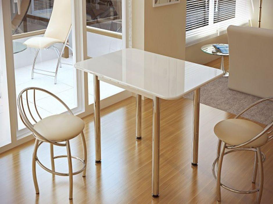 Кухонный стол Белый глянец (БТС)