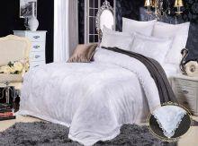 Комплект постельного белья Сатин-жаккард Donna Bella (белый)  евро Арт.585/3