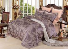 Комплект постельного белья Сатин-жаккард  Donna Mattina  (капучино)  евро Арт.593/3