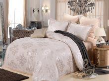 Комплект постельного белья Сатин-жаккард Дебра вышивка евро Арт.598/3
