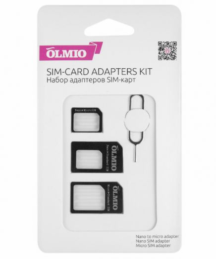 Адаптер для SIM карт в наборе SIM-карт OLMIO