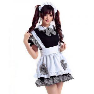 Maid Cafe-чёрный костюм