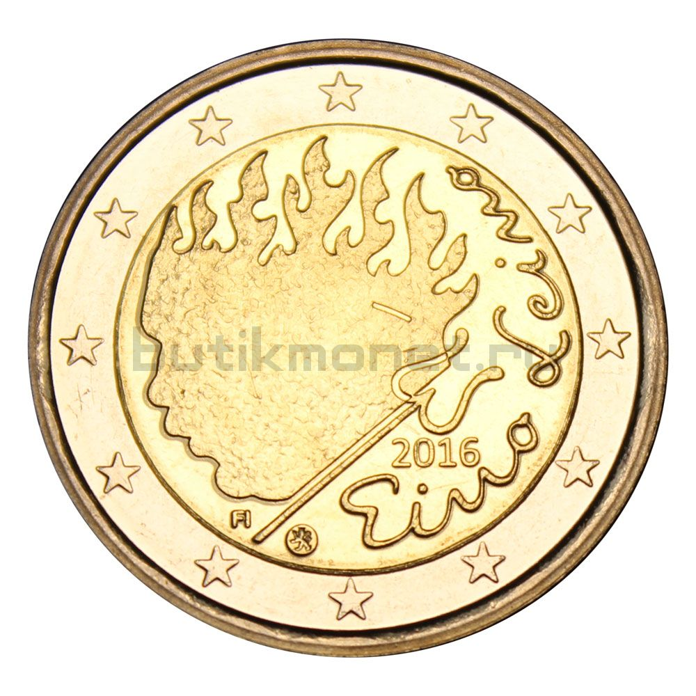 2 евро 2016 Финляндия 90 лет со дня смерти Эйно Лейно