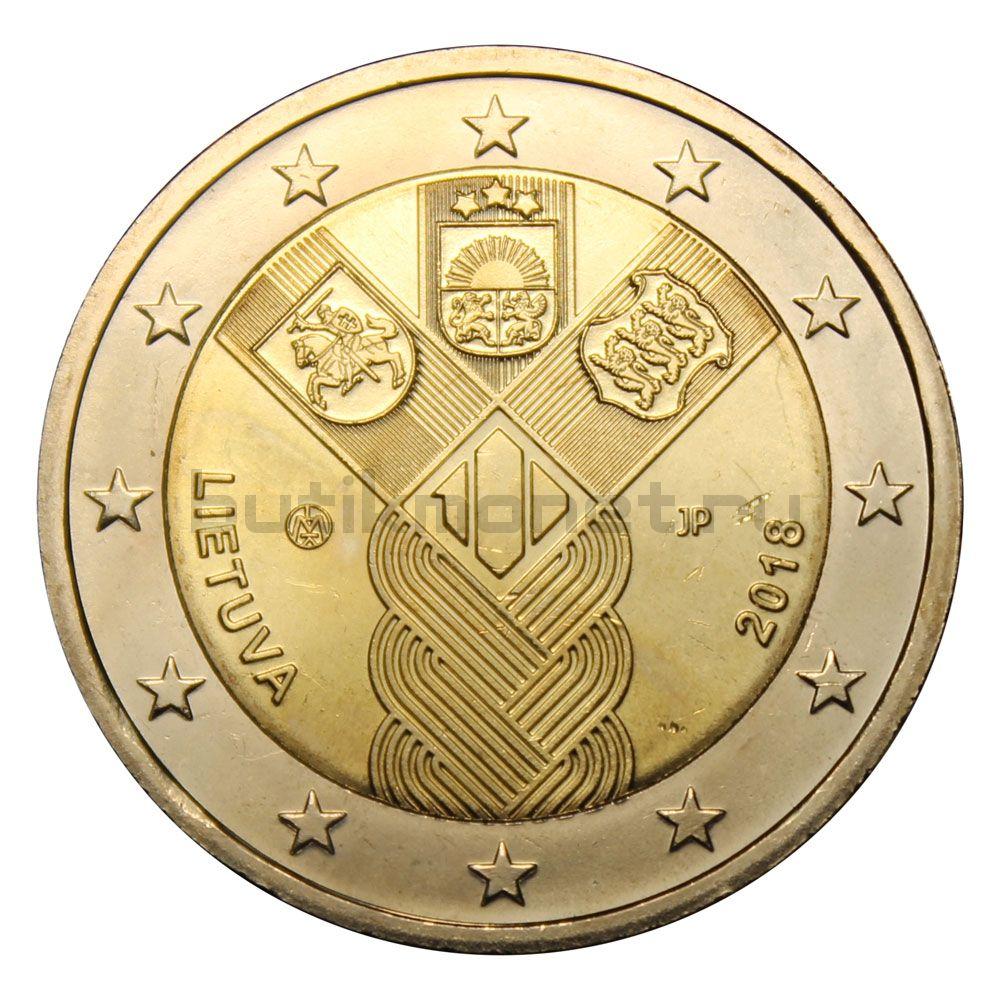 2 евро 2018 Литва 100 лет государствам Балтики