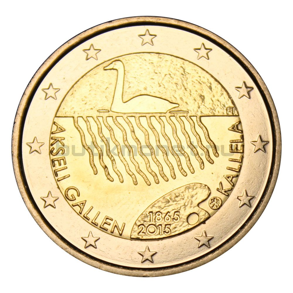 2 евро 2015 Финляндия 150 лет со дня рождения Аксели Галлен-Каллелы