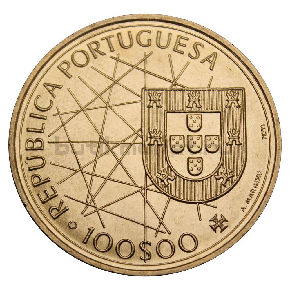 100 эскудо 1989 Португалия Открытие Азорских островов (Золотой век открытий)