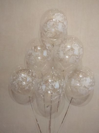 Фантазия прозрачные латексные шары с гелием