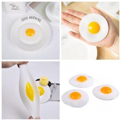 Игрушка-лизун Яйцо с желтком