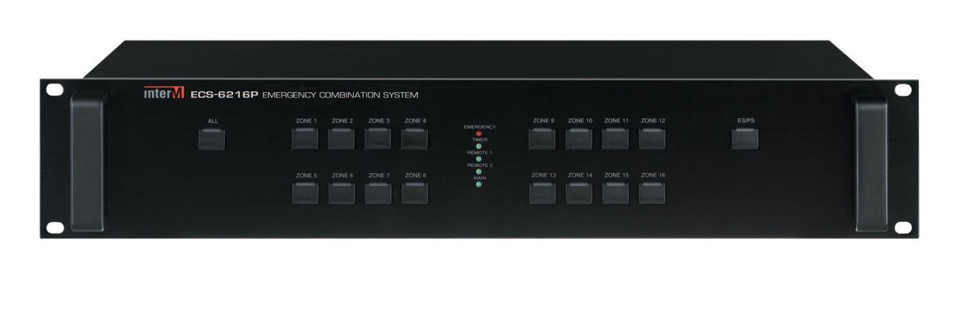 ECS-6216P Inter-M Контроллер системы оповещения 16 зон