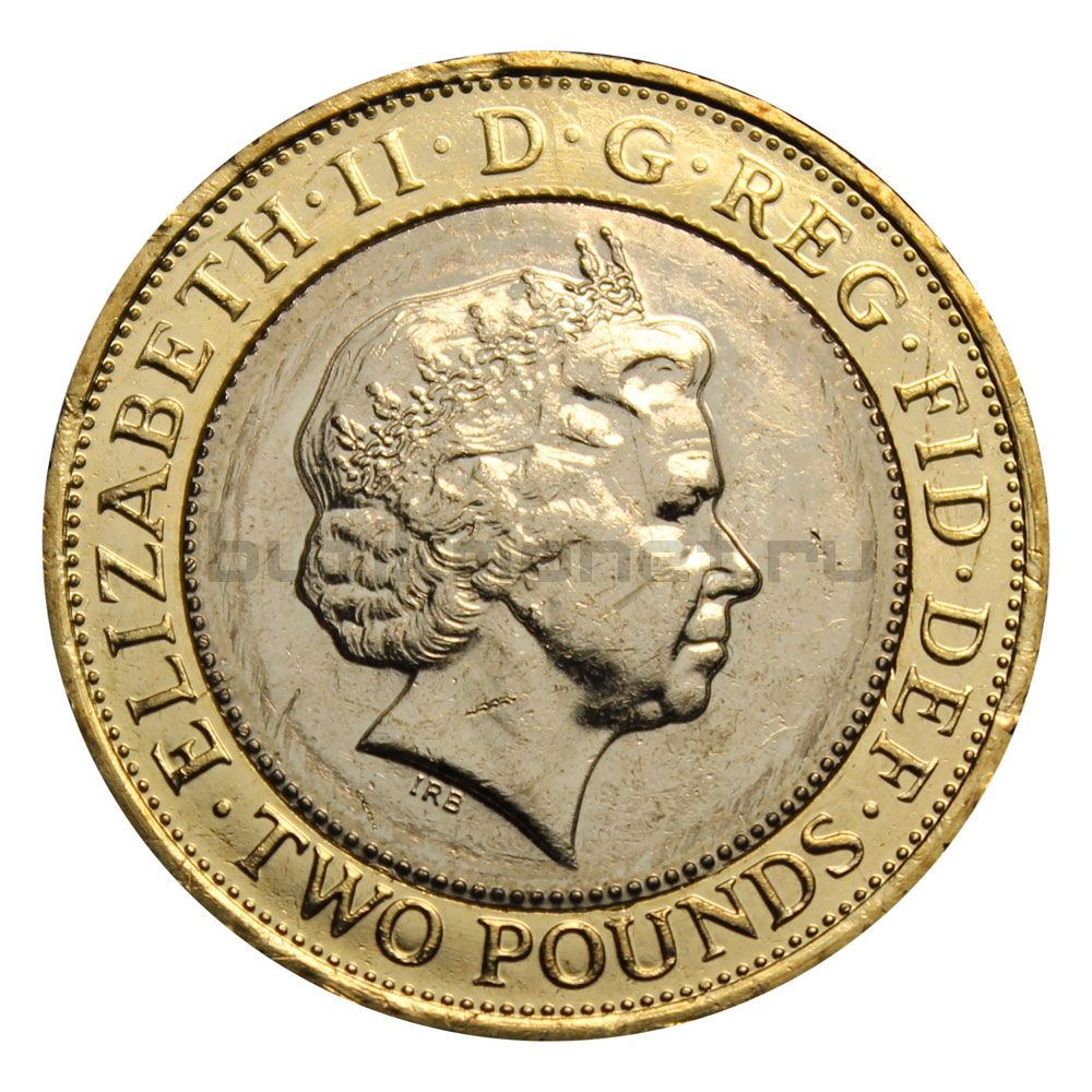 2 фунта 2014 Великобритания 100 лет Первой Мировой войне