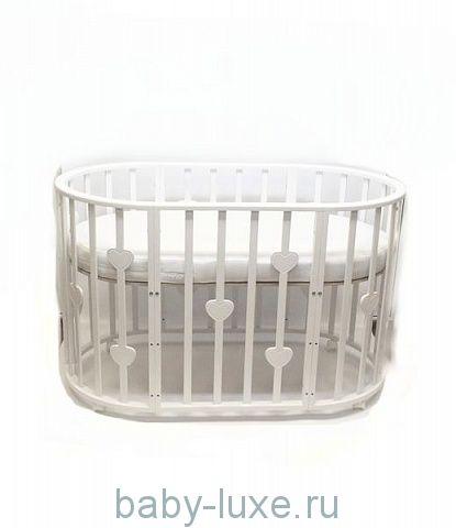 Круглая кроватка-трансформер 6 в 1 Малютка