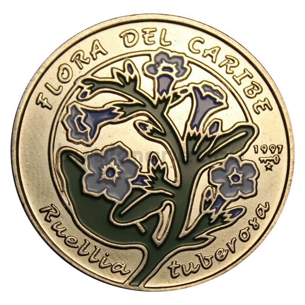 1 песо 1997 Куба Руэллия Тубероса (Карибская флора)