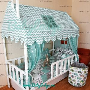 Кровать-домик с вертикальными бортами №BL