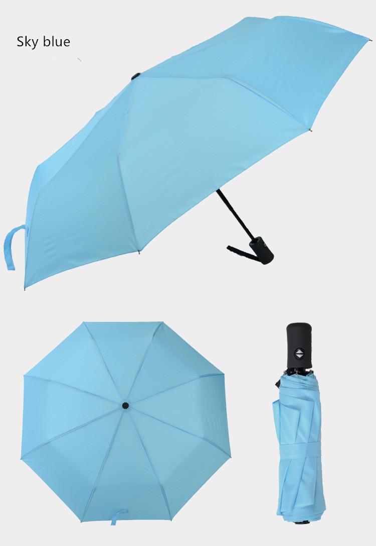 Купить Карманный зонт umbrella голубой недорого с доставкой